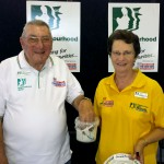 Tweed Valley Neighbourhood Watch Secretary Gordon Levenson and Murwillumbah Bray Park Coordinator Merilyn Gilmore